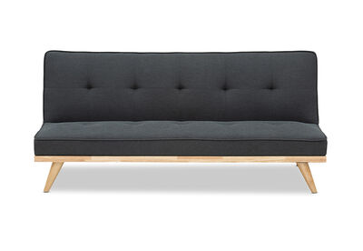 RIZZO - Fabric Timber Base Click Clack Sofa Bed