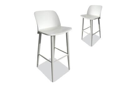 MIRA - Set of 2 White Bar Stools