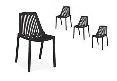 KAI - Set of 4 Black Dining Chairs