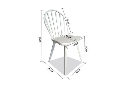 HARTSDALE - Set of 4 White Outdoor Dining Chairs
