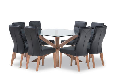 PROMENADE - 9 Piece Dining Suite with Asheville Dining Chairs